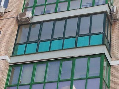 Тонировка окон балконов.